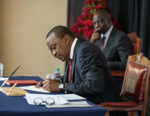 Uhuru Kenyatta Signs Executive Order on Procurement